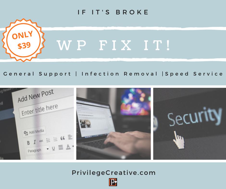 WP Fix It General Support